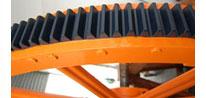 Engrenagens para maquinas de papel e celulose